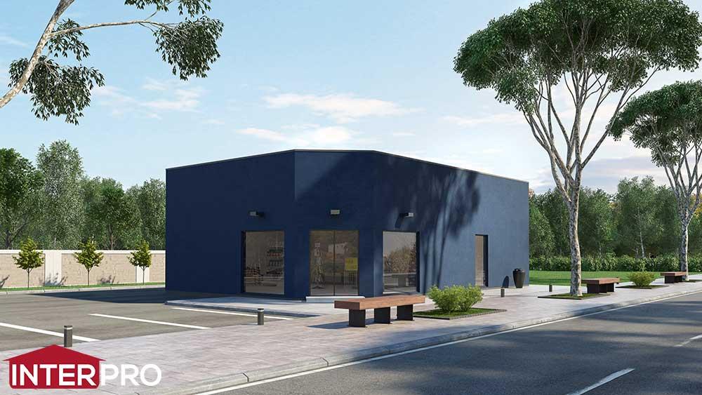 construction b timent commercial pour pisciniste plans. Black Bedroom Furniture Sets. Home Design Ideas